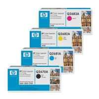 4 Pack Genuine HP Q2670A Q2681A Q2682A Q2683A Toner Cartridge Set 309A 311A