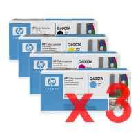 3 Lots of 4 Pack Genuine HP Q6000A Q6001A Q6002A Q6003A Toner Cartridge Set 124A