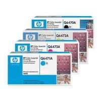 4 Pack Genuine HP Q6470A Q6471A Q6472A Q6473A Toner Cartridge Set 501A 502A