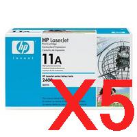 5 x Genuine HP Q6511A Toner Cartridge 11A