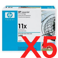 5 x Genuine HP Q6511X Toner Cartridge 11X