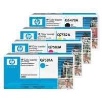 4 Pack Genuine HP Q6470A Q7581A Q7582A Q7583A Toner Cartridge Set 501A 503A