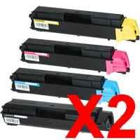 2 Lots of 4 Pack Non Genuine Toner Cartridge Set for Kyocera P6130CDN M6030CDN M6530CDN