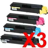 3 Lots of 4 Pack Non-Genuine TK-5144 Toner Cartridge Set for Kyocera P6130 M6030 M6530