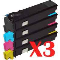 3 Lot of 4 Pack Non-Genuine TK-554 Toner Cartridge Set for Kyocera FS-C5200DN