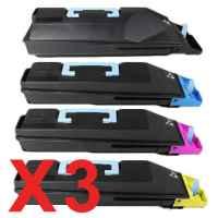 3 Lots of 4 Pack Non-Genuine TK-859 Toner Cartridge Set for Kyocera TASKAlfa-400ci 500ci