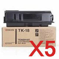 5 x Genuine Kyocera TK-18H Toner Cartridge FS-1020D FS-1118MFP