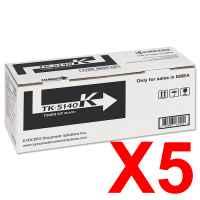 5 x Genuine Kyocera TK-5164K Black Toner Cartridge P7040