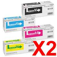 2 Lots of 4 Pack Genuine Kyocera TK-5164 Toner Cartridge Set P7040