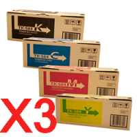 3 Lots of 4 Pack Genuine Kyocera TK-584 Toner Cartridge Set FS-C5150DN