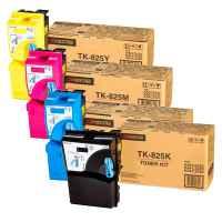 4 Pack Genuine Kyocera TK-825 Toner Cartridge Set KM-C2520 KM-C3225