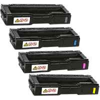 4 Pack Compatible Lanier SPC232 SPC242 SPC312 SPC320 Toner Cartridge Set
