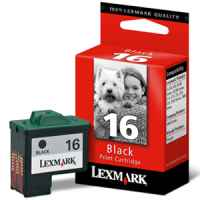 1 x Genuine Lexmark #16 Black Ink Cartridge 10N0016