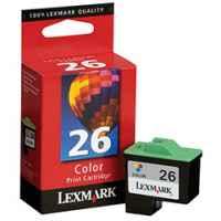 1 x Genuine Lexmark #26 Colour Ink Cartridge 10N0026