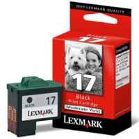 1 x Genuine Lexmark #17 Black Ink Cartridge 10N0217