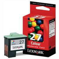 1 x Genuine Lexmark #27 Colour Ink Cartridge 10N0227