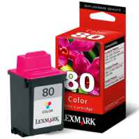 1 x Genuine Lexmark #80 Colour Ink Cartridge 12A1980