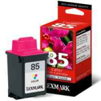 1 x Genuine Lexmark #85 Colour Ink Cartridge High Yield 12A1985