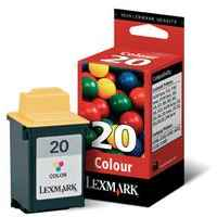 1 x Genuine Lexmark #20 Colour Ink Cartridge 15M0120