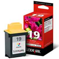 1 x Genuine Lexmark #19 Colour Ink Cartridge 15M2619
