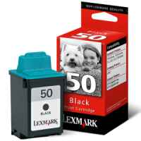 1 x Genuine Lexmark #50 Black Ink Cartridge 17G0050