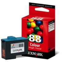 1 x Genuine Lexmark #88 Colour Ink Cartridge High Yield 18L0000