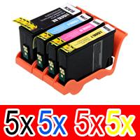 20 Pack Compatible Lexmark #150XL Ink Cartridge Set High Yield (5BK,5C,5M,5Y) 14N1615AAN 14N1616AAN 14N1618AAN 14N1614AAN