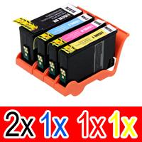 5 Pack Compatible Lexmark #150XL Ink Cartridge Set High Yield (2BK,1C,1M,1Y) 14N1615AAN 14N1616AAN 14N1618AAN 14N1614AAN