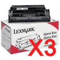 3 x Genuine Lexmark E240 Toner Cartridge Return Program