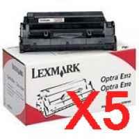5 x Genuine Lexmark E240 Toner Cartridge Return Program