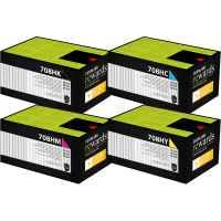 4 Pack Genuine Lexmark CS310 CS410 CS510 708HK/C/M/Y Toner Cartridge Set High Yield Return Program