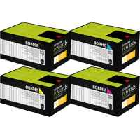 4 Pack Genuine Lexmark CX410 CX510 808HK/C/M/Y Toner Cartridge Set High Yield Return Program