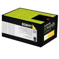 1 x Genuine Lexmark CX410 CX510 808HY Yellow Toner Cartridge High Yield Return Program
