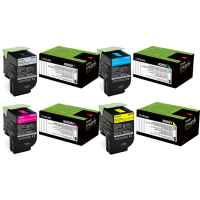4 Pack Genuine Lexmark CX310 CX410 CX510 808K/C/M/Y Toner Cartridge Set Return Program