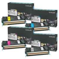 4 Pack Genuine Lexmark C524 C532 C534 Toner Cartridge Set High Yield Return Program