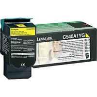 1 x Genuine Lexmark C540 C543 C544 C546 X543 X544 X546 X548 Yellow Toner Cartridge Return Program