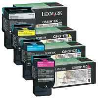 4 Pack Genuine Lexmark C540 C543 C544 C546 X543 X544 X546 X548 Toner Cartridge Set High Yield Return Program