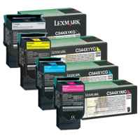 4 Pack Genuine Lexmark C544 C546 X544 X546 X548 Toner Cartridge Set Extra High Yield Return Program