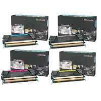 4 Pack Genuine Lexmark C734 C736 X734 X736 X738 Toner Cartridge Set Return Program