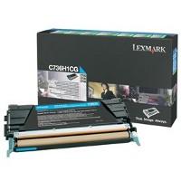 1 x Genuine Lexmark C736 X736 X738 Cyan Toner Cartridge High Yield Return Program