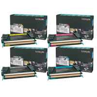 4 Pack Genuine Lexmark C736 X736 X738 Toner Cartridge Set High Yield Return Program