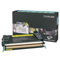 1 x Genuine Lexmark C736 X736 X738 Yellow Toner Cartridge High Yield Return Program