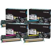 4 Pack Genuine Lexmark C748 Toner Cartridge Set High Yield Return Program