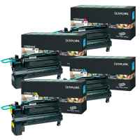 4 Pack Genuine Lexmark C792 Toner Cartridge Set High Yield Return Program