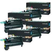 4 Pack Genuine Lexmark C792 Toner Cartridge Set High Yield Return Program