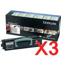 3 x Genuine Lexmark X203 X204 Toner Cartridge Return Program