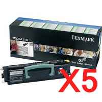 5 x Genuine Lexmark X203 X204 Toner Cartridge Return Program