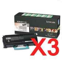 3 x Genuine Lexmark X264 X363 X364 Toner Cartridge High Yield Return Program