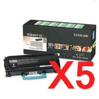 5 x Genuine Lexmark X264 X363 X364 Toner Cartridge High Yield Return Program