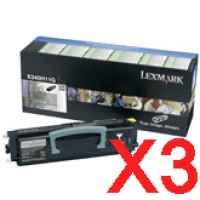 3 x Genuine Lexmark X342 X342N Toner Cartridge High Yield Return Program
